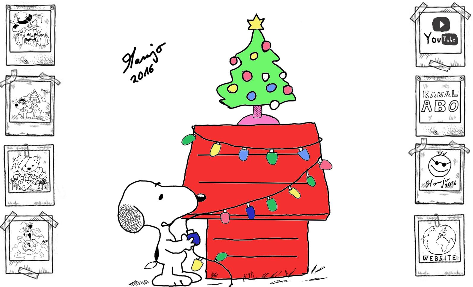 Peanuts Snoopy Weihnachten Baum schmücken Lichterkette – Crazy Mamjo