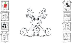 Rudolf the rednosed baby reindeer einfach und schnell gezeichnet Tutorial lernen easy