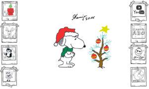 Snoopy Peanuts und der perfekte Weihnachtensbaum Tutorial einfach easy xmas x mas
