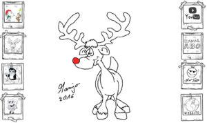 Zeichne Rudolf rednosed reindeer Rudolph Tutorial einfach easy speed schnell