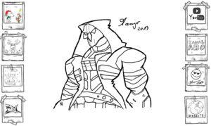 Cyber Assassin Zeichnung, skizze gekritzel tutorial lernen kurs einfach easy